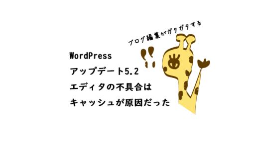 ワードプレス5.2にアップデートしたら投稿画面が変になった!キャッシュ削除で解決