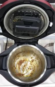 カレーで汚れたホットクックの内鍋