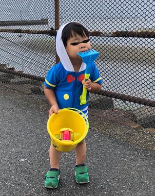 2歳の男の子の潮干狩りコーデ