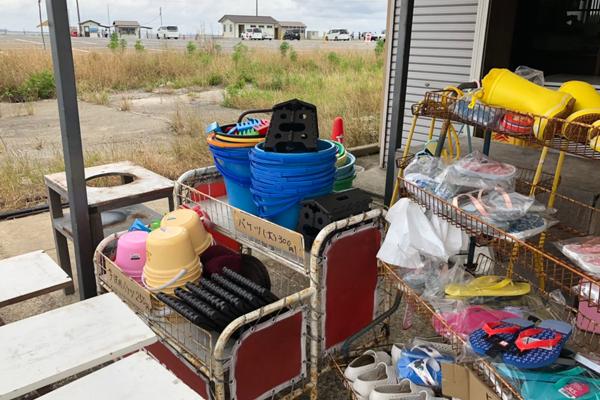 牛込海岸潮干狩りの売店