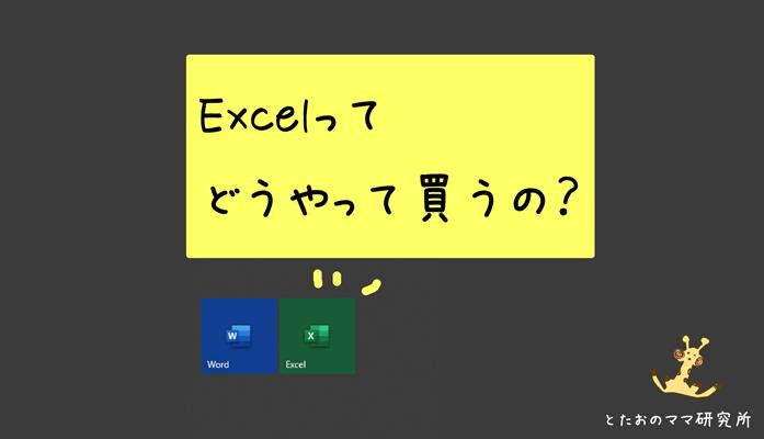 Excelの買い方を分かりやすく説明するブログ